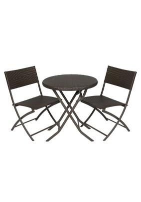 Комплект мебели Романтика складной цвет: черный