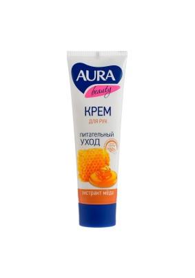 Крем для рук Aura Beauty питательный с D-пантенолом и медом 75мл
