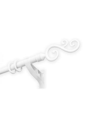 Карниз 22мм Swan 1 ряд. наконечники белый 2,0м