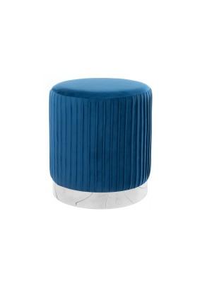Пуф Ring 1-П dark blue/ткань/велюр/бежевый/синий/35х35х39