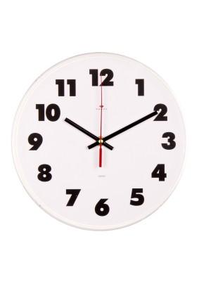 """Часы настенные круг 2524-011 d=25см, основание белое """"Классика"""" """"Рубин"""""""