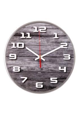 """Часы настенные круг 2524-013 d=25см, основание серое """"Эко"""" """"Рубин"""""""