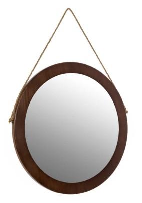 """Зеркало настенное интерьерное """"Капитанское""""/темно-коричневый/57*57*2 см."""