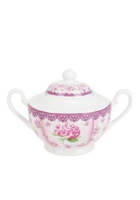 Сахарница Розовая гортензия 450мл 18х11,5х11см/M0661184