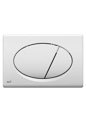 Кнопка управления системой инсталляции, белая М70 ALCAPLAST