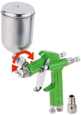 Краскопульт поворотн. бачком ECO SG-1500 (250л/мин, 2 бар, 0.2л, сопло 1,0мм)