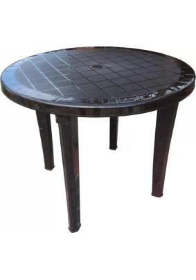 Стол круглый цвет: шоколад/900х900х740