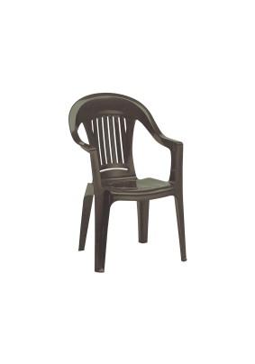 Кресло пластиковое Фламинго цвет: шоколад/560х580х900