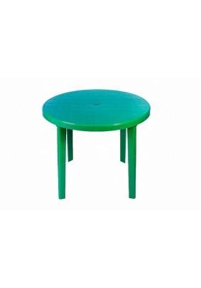 Стол круглый Стандарт цвет: зелёный/910х710