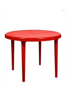Стол круглый Стандарт цвет: красный/910х710