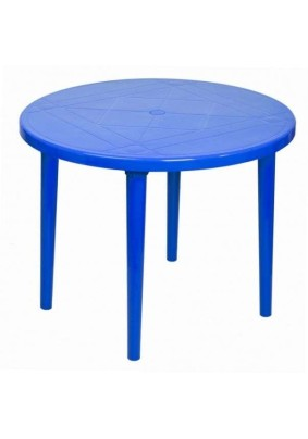 Стол круглый Стандарт цвет:синий/910х710