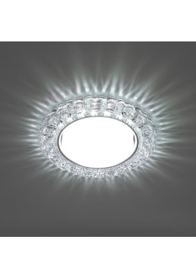 Светильник точечный CD4045 41409 20LED*2835 SMD 6400K, 15W GX53, прозрачный, хром Feron