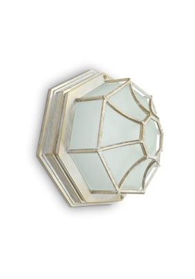 Светильник садово-парковый PL661 11652 60W 230V 270х270х120 белое золото Feron