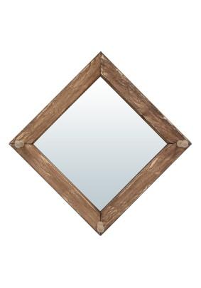 Зеркало с вешалкой состар. 30х30см 3 рожка липа/31237
