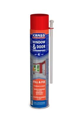 Пена монтажная KRASS Home Edition д/окон и дверей/всесезонная /750 мл