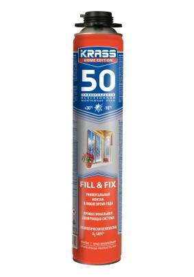 Пена монтажная профессиональная KRASS Proffessional Home Edition д/окон и дверей/750 мл