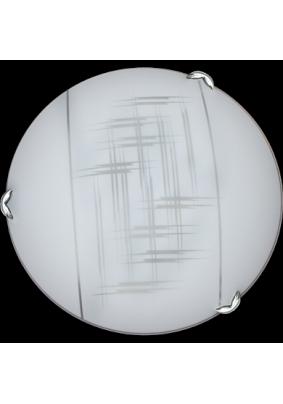 "Светильник ""Дюна"" Элегант d300 белый/песк/хром 2х60W E27 Lumis"