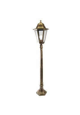 Светильник садово-парковый PL6210 11192 100W 230V E27 черное золото, Feron