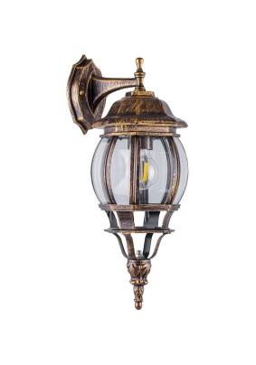 Светильник садово-парковый PL8102 11245 100W 230V E27 черное золото, Feron