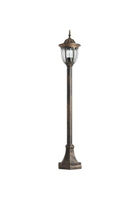 Светильник садово-парковый PL6306 11900 60W 230V E27 черное золото, Feron
