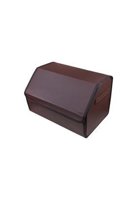 Органайзер кофр в багажник Skyway CLASSIC 49х30х30 см экокожа, коричневая
