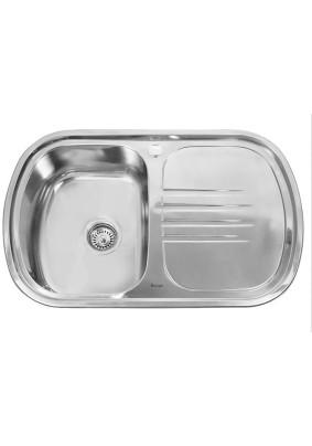Мойка нерж. Sink Light прямоугол. скр., полиров, лев., 77х49/0.8х180  (*10)