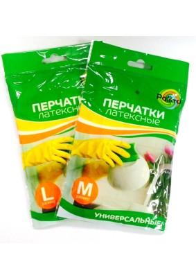 Перчатки латексные PALITRA M