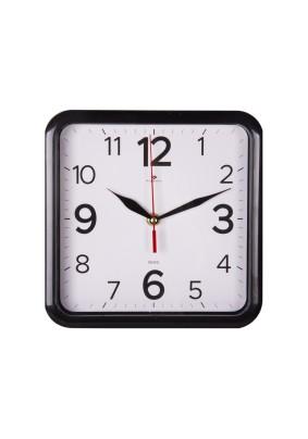 """Часы настенные 2223-007B квадрат 22х22см корпус черный """"Классика"""""""