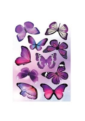 Наклейка Бабочки Ультрафиолет AI 1001/Декоретто S