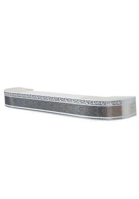 Карниз Есенин Стандарт 3х ряд. серебро элегант 2,4м