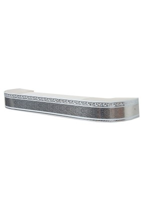 Карниз Есенин Стандарт 3х ряд. серебро элегант 3,0м