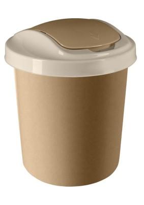 """Контейнер для мусора """"Ориджинал"""" 12 л кофейный SV4044КФ"""