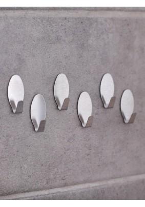 Набор крючков на липучке Овал 6 шт, металл 569588