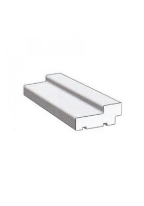 Коробка сендвич экошпон, Техно телеск. с уплотнителем 2070х74х28/ПВХ-Белый/МариаМ