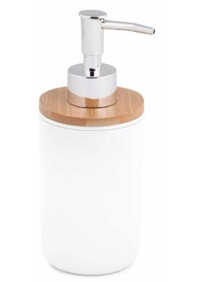 """Дозатор для жидкого мыла """"Бамбук"""" (белый) М8058"""