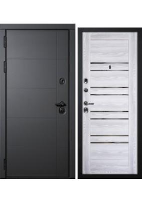 Дверь металлическая Э-1 Нар.Серый муар/Вн.PSK-1 Ривьера айс/2050х860/Правая