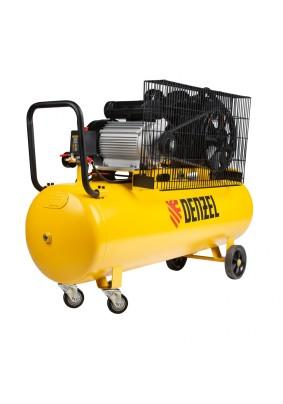 Компрессор Denzel BCV-2300/100 ремен. (440л/мин, объем 100л. 2.3кВт 10бар 220В)